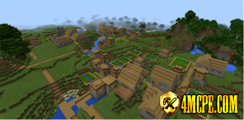 Triple Village at Spawn Seed