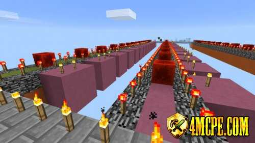 Карта Lucky Block Race для MC:PE 0.15.1, 0.15.0
