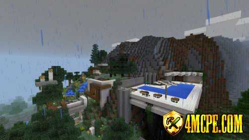 Карта Modern Mountain Home для MC:PE 0.15.2, 0.15.1