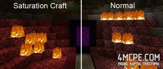 Текстурпак Saturation Craft для Майнкрафт ПЕ 1.0.9, 1.0.0