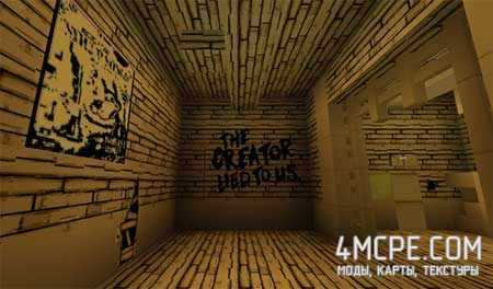 Карта Bendy Game Horror для Майнкрафт ПЕ